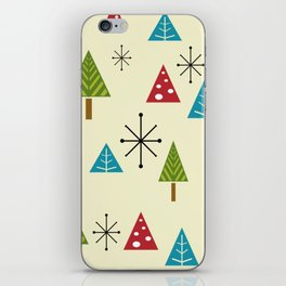Mid Century Modern Christmas Trees iPhone Skin