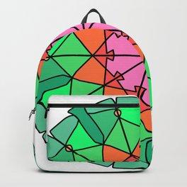 Abstract bohemian mandala fractal Backpack