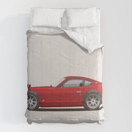 Legendary Classic Red 240z Fairlady Vintage Retro Cool German Car Wall Art and T-Shirts Comforters