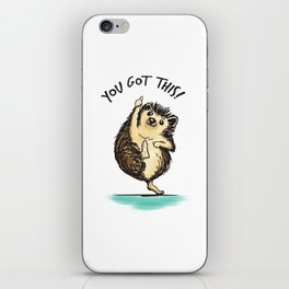 Motivational Hedgehog iPhone Skin