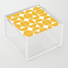 Mid Century Modern Geometric 04 Yellow Acrylic Box