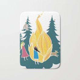 Midsummer bonfire (Kokko) Bath Mat