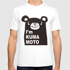 I'm KUMAMOTO JAPAN Mens Fitted Tee White SMALL