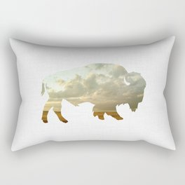 Bison and Plains Rectangular Pillow