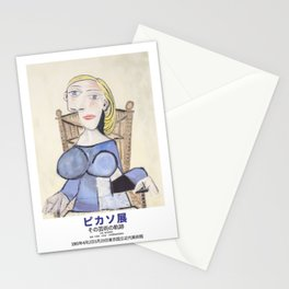 Pablo Picasso Exhibition Art Poster -  Tokyo National Modern Art Museum 1983 - Femme Blonde  Stationery Cards