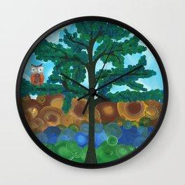 Art by MiMi Stirn - Owl Singles #338 Wall Clock