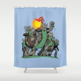 The Planetrees Shower Curtain