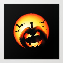 Smile Of Scary Pumpkin Canvas Print