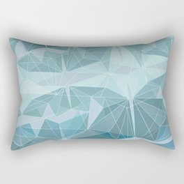 Winter geometric style - minimalist Rectangular Pillow