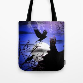 Raven's Haunted Castle Tote Bag