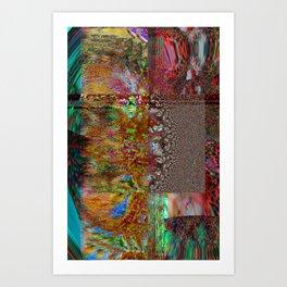 GLITCH 7- swirl back to spaceship ( internet boat) Art Print