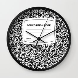 Composition Book Wall Clock