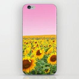 Blushing Sunflower Fields iPhone Skin