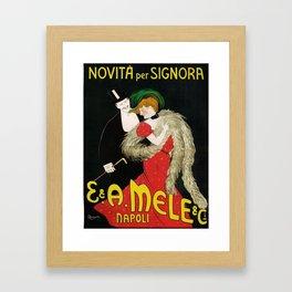Vintage poster - Novita per Signora Framed Art Print