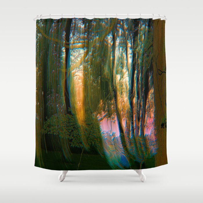 Trippy Trees Shower Curtain