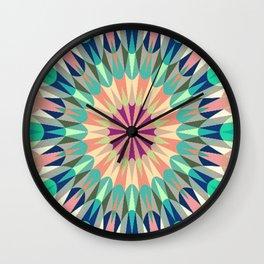 Retro Geometry Mandala Deep Pastels #2 Wall Clock