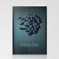 sherlock holmes Stationery Cards featuring Sherlock Holmes by HomePosters