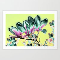 popart Art Prints featuring MAGNOLIA - PopArt by CAPTAINSILVA