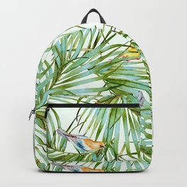 Birds on the leaves of the jungle Backpack
