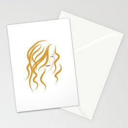 self-portrait of a blonde Stationery Cards