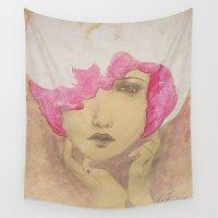 jazz Wall Tapestries featuring bubblegum jazz by Erika
