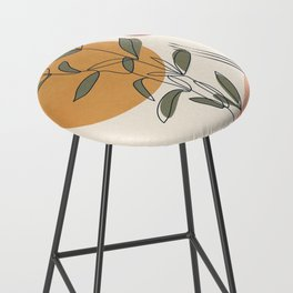 Minimal Line Young Leaves Bar Stool