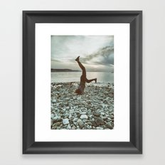 Life is not a perfect yoga pose Framed Art Print