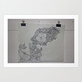 Ink & Pencil Art Print