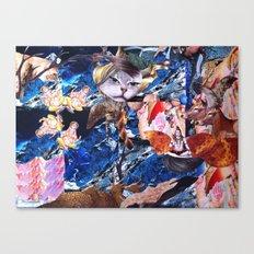 THE त्रिमूर्ति 'S CAT Canvas Print