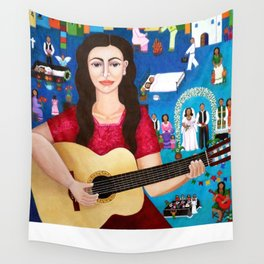 "Violeta Parra and the song ""Black wedding II"" Wall Tapestry"