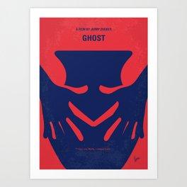 No971 My Ghost minimal movie poster Art Print