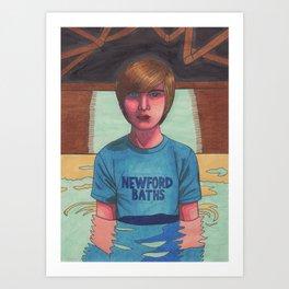 Boy in a Pool (Mike) Art Print