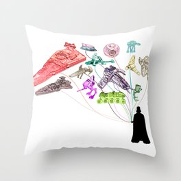 Balloons From the Darkside Throw Pillow