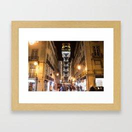 Santa Justa Lift Framed Art Print