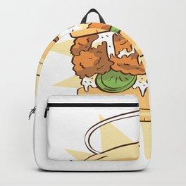 Chicken sandwich tasty Backpack