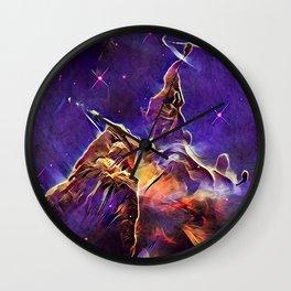 ALTERED Hubble Mystic Mountain- Carina Nebula Wall Clock