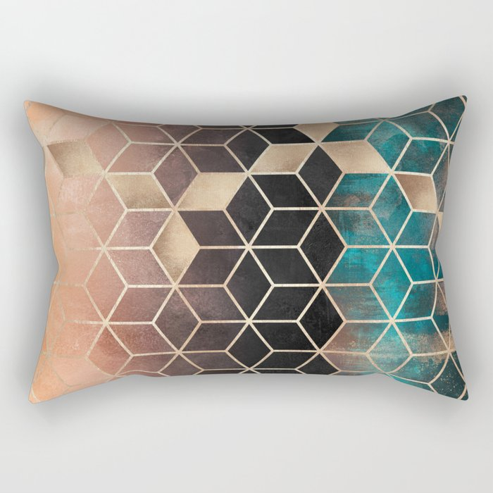 Ombre Dream Cubes Rectangular Pillow