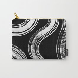 Modern Black + White Carry-All Pouch