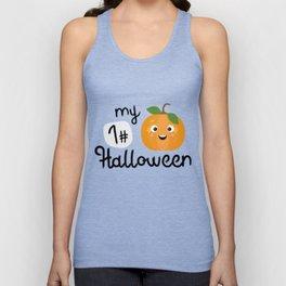 My First Halloween Pumpkin T-Shirt Dtupp Unisex Tank Top