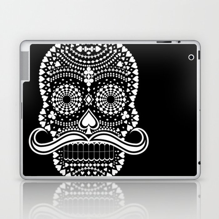 Black Skull  White Suits Laptop & iPad Skin