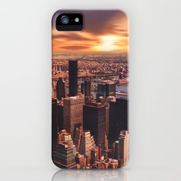 New York City Sunset View iPhone Case