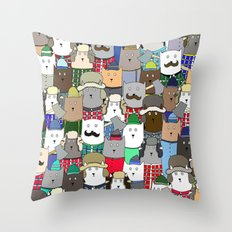 LumberCats Throw Pillow