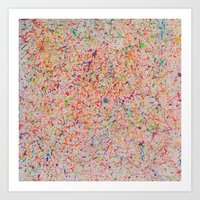 sprinkles Art Prints featuring Sprinkles by Candy Circles