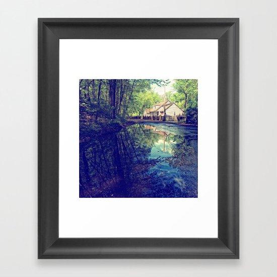 Country Lane Reflections Framed Art Print