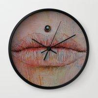 medusa Wall Clocks featuring Medusa by Michael Creese