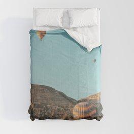 BALLOONS - FLIGHT - HOT - AIR - BALLOONS - PHOTOGRAPHY Comforters
