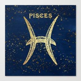 Pisces Zodiac Sign Canvas Print