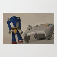 sonic Area & Throw Rugs featuring Sonic & Dreamcast by Bradley Bailey
