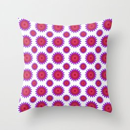 Pink,red and fuchsia color mandala Throw Pillow