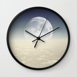 Desert Moon, Sepia Blue Wall Clock